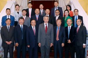 中国企业家俱乐部理事与新加