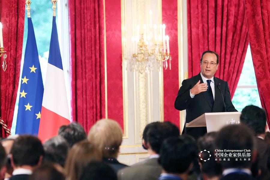法国总统奥朗德会晤